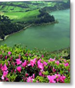 Furnas Lake Azores Metal Print