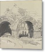 Furness Abbey East  29 August 1836 By Edward Lear  1836 Metal Print