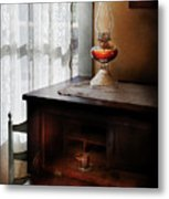 Furniture - Lamp - I Used To Write Letters  Metal Print by Mike Savad