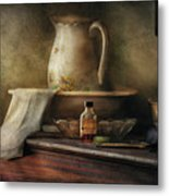 Furniture - Table - The Water Pitcher Metal Print by Mike Savad