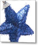 Furry Christmas Star Metal Print