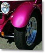Fuschia Hot Rod Wheel  Metal Print