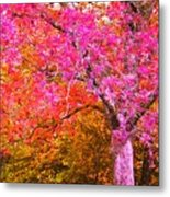 Fuschia Tree Metal Print