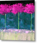 Fuschia Trees Metal Print