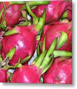 Fushia Fruit Metal Print