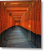 Fushimi Inari Taisha Shrine In Kyoto, Japan Metal Print