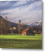 Fussen Mountain Scene Metal Print