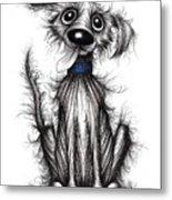 Fuzzy Dog Metal Print