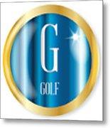 G For Golf Metal Print