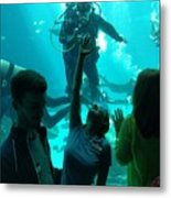 Ga Aquarium Scuba Metal Print