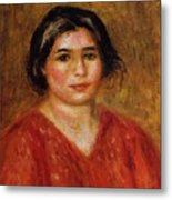 Gabrielle In A Red Blouse 1913 Metal Print
