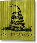 Gadsden Flag Barn Door Metal Print