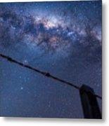 Galactic Kiwi On A Barbed Wire Metal Print