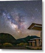 Galactic Picnic - Milky Way At Pyramid Lake Metal Print