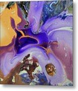 Galactic Portal. Abstract Fluid Acrylic Pour Metal Print