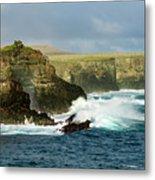 Cliffs At Suarez Point, Espanola Island Of The Galapagos Islands Metal Print