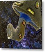 Button In Space Metal Print