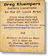 Gallery Locations In The St. Louis Area Metal Print