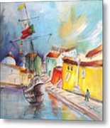 Gallion In Vila Do Conde Metal Print
