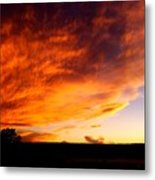 Gallo Peak Fiery Skies  Metal Print