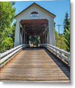 Gallon House Covered Bridge Metal Print
