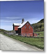 Gallop Road Barn Metal Print