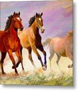 Galloping Horses Metal Print