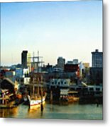 Galveston Bay Sunrise Metal Print