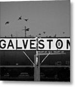 Galveston Train Yard Metal Print