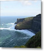 Galway Bay And Towering Cliffs Of Moher In Ireland Metal Print