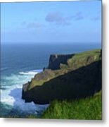 Galway Bay Churning Below The Cliffs Of Moher Metal Print