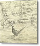 Game Bird By W  Buelow Gould  C 1835  Metal Print