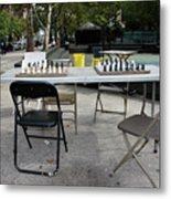 Game Of Chess Anyone Metal Print by Terry Wallace