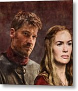 Game Of Thrones. Cersei And Jaime. Metal Print