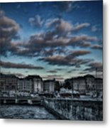 Stockholm In Dark Metal Print