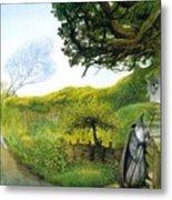 Gandalf Houses Tolkien The Magician Metal Print