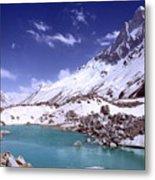 Gandharva Tal And Mount Shivaling Metal Print
