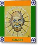 Gandhi Portrait Metal Print