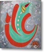 Ganesha Symbolic Metal Print