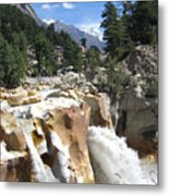 Ganges In Gangotri Close To Its Source Metal Print