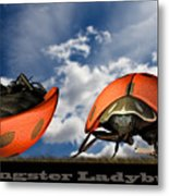 Gangster Ladybugs Nature Gone Mad Metal Print