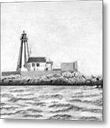 Gannet Rock Lighthouse Metal Print