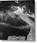 Gapstow Bridge In Central Park - Bw Metal Print