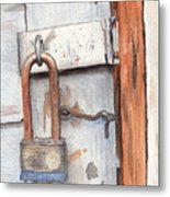 Garage Lock Number One Metal Print