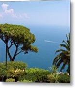 Garden And Bay Of Naples Metal Print