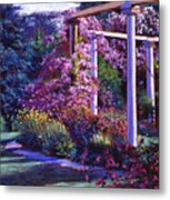 Garden Arbor Metal Print by David Lloyd Glover