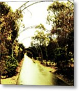 Garden Arches Of Gold Metal Print