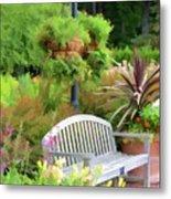 Garden Benches 5 Metal Print