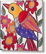 Garden Bird Metal Print