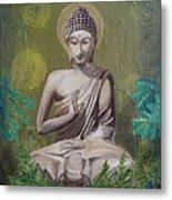 Garden Buddha Metal Print